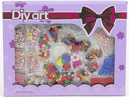 Diy Art Jewelry Set Art.8214611 Radošais komplekts ar krellēm un perlītēm rotas lietu veidošanai (vires un krelles)
