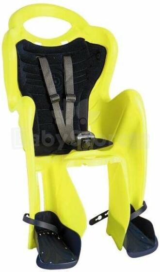Bellelli MrFox Relax HiViz Citrus bērnu velosēdeklis stiprināms uz rāmja