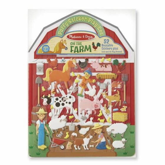 Melissa&Doug Puffy Stickers Farm Art.19408 Pufīgo uzlīmju grāmata