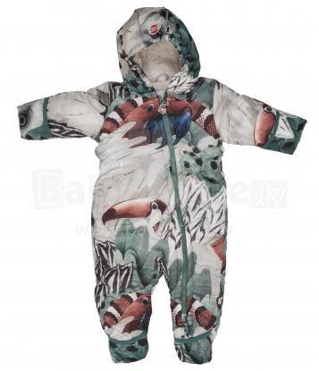 Lodger  Skier Polyester Botanimal Parrot Art.SK 595_3-6 Bērnu kombinezons ar kapuci 3-6 mēn.