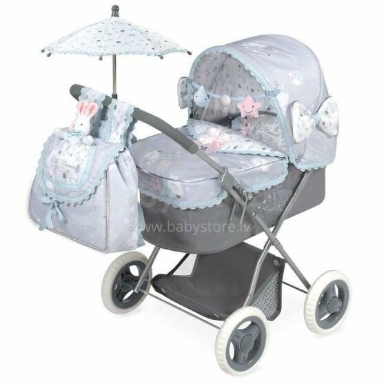 DeCuevas Toys Martin Art.85029 Leļļu rati ar kulbiņu un lietussargu