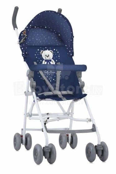 LORELLI LIGHT Vasaras pastaigu rati 6m+ DARK BLUE TEDDY BEAR