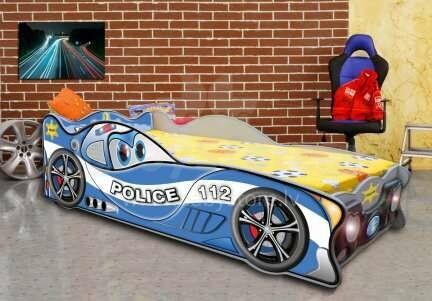 Plastiko ZigZag Mini Police Art.19067 Ergonomiska bērnu gulta - Mašīna ar matraci 160x80 cm