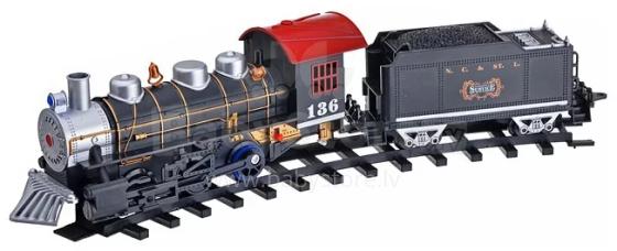 Play Smart Art.456430 Bērnu Dzelzceļš Pirmais vilciens S400-H06011 (ar skaņas, gaismas un dūmainiem efektiem )