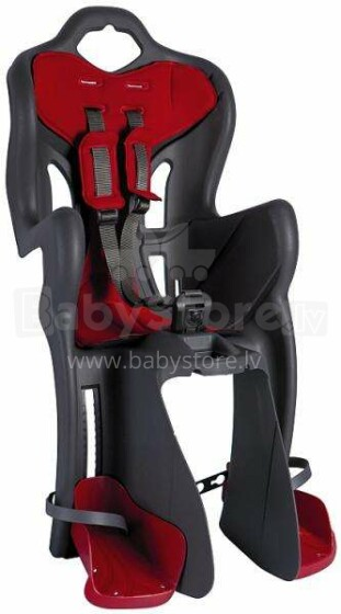 Bellelli B-One standard Velosipēda bērnu sēdeklītis pelēks ar sarkanu