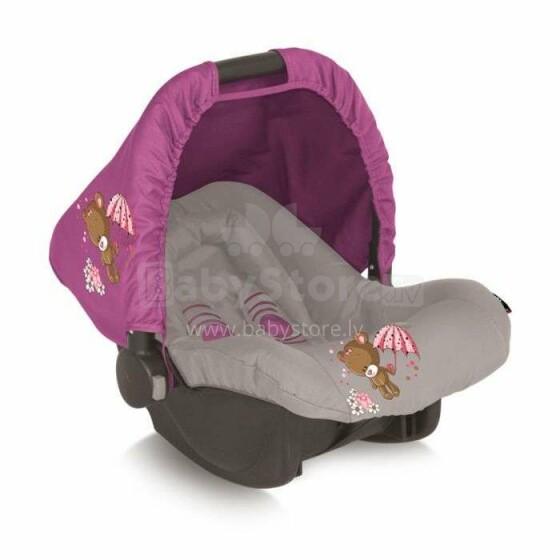 LORELLI Bērnu autosēdeklis - BODYGUARD 0-10 kg ROSE&BEIGE