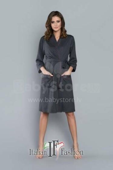 Italian Fashion Megan Art.86288 Dark Grey  Peldmētelis(halāts) grūtniecēm