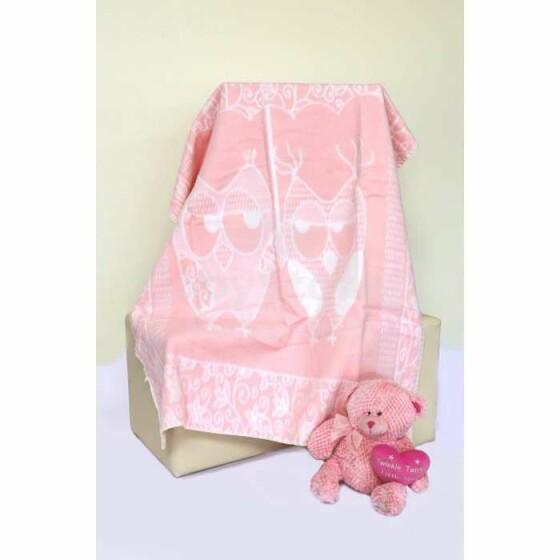 Mežroze Light Pink Art.89451  Augstvērtīga bērnu kokvilnas sedziņa (sega) 100x140 cm