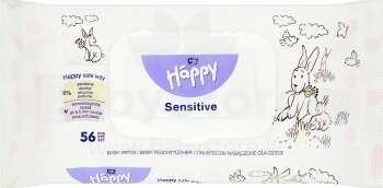 Happy Sensitive Art.330527 mitrās salvetes zīdaiņiem, 56 gab.