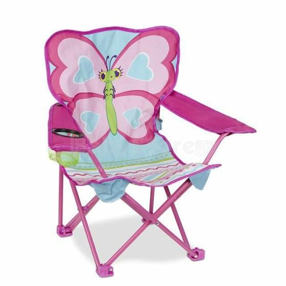 Melissa&Doug Butterfly Chair  Art.16693 Bērnu pludmales krēsls