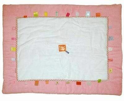 Label-Label playmat pink - white