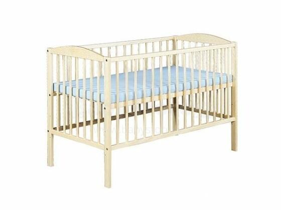 Klups Radek II Priede Art.30991 Bērnu koka gultiņa 120x60cm