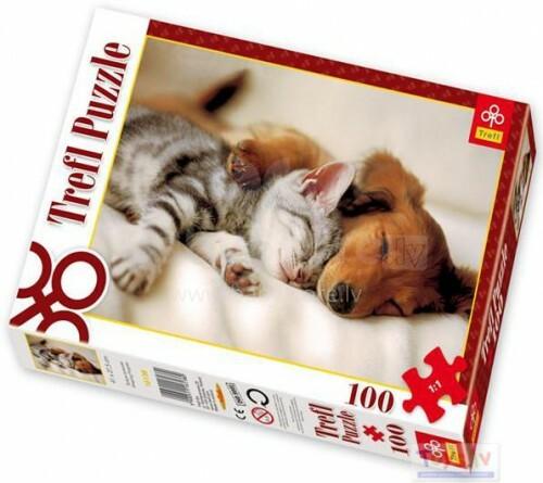 TREFL 16138 Puzle 100 Mīļie mājdzīvnieki