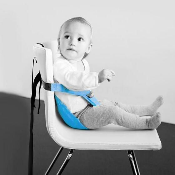 MiniMonkey® Mini Chair Seat Turquoise Mobīla universāls auduma barošanas krēsliņš transformeris