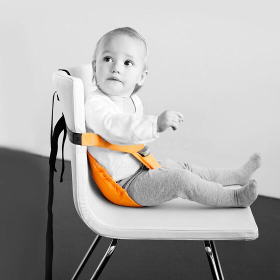 MiniMonkey® Mini Chair Seat Orange Mobīla universāls auduma barošanas krēsliņš transformeris