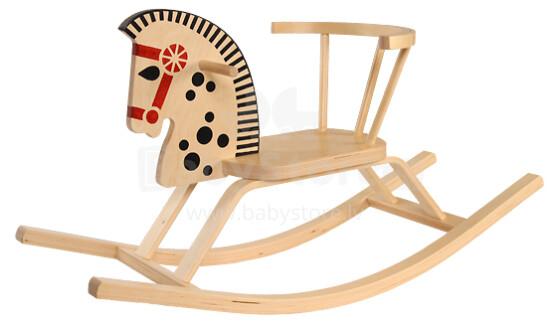 TROJA LF Šūpuļzirgs Rikšotājs (Bērnu klasiskās koka šūpoles - Zirgs)