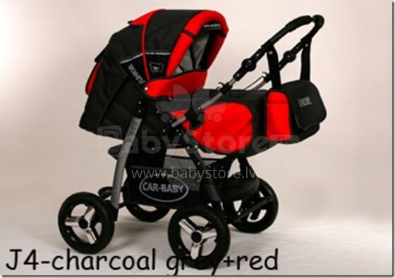 Baby Merc Junior Pram J4 Rati divi vienā
