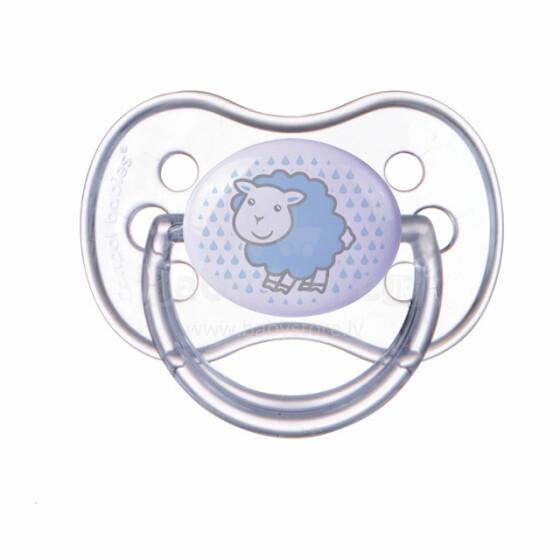 Canpol babies 22/518 simetriskais  silikona knupis māneklītis ar vāciņu (A) 6-18 m