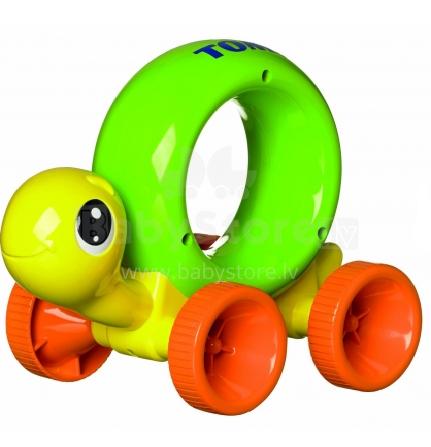 Tomy Art. T72200 Attīstošā rotaļlieta bruņurupucis - piespied un rāpo