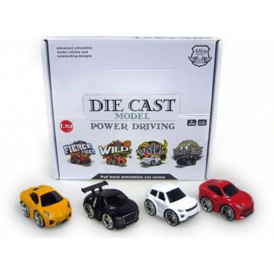 Hipo Die Cast Art. HXAB02 / TN-Q18 Roraļu Mašīnīte (Dažādi Modeļi)