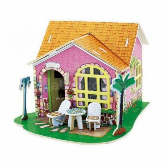 Robotime Art.104202 Puzzle 3D no koka- Māja
