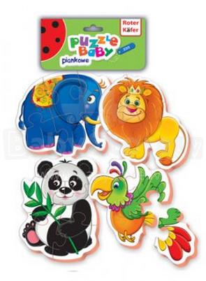 Roter Käfer Baby Puzzle RK1102-02 Zoo Mīkstas puzles Bērnu puzzle Zoo (Vladi Toys)