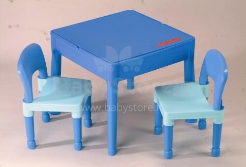 Tega Baby Building Set Art.MT-003 Blue Bērnu komplekts, galds+ 2 krēsli