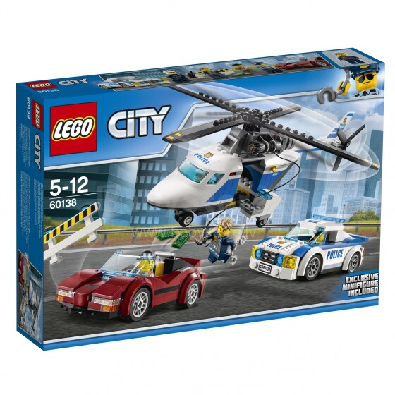60138 LEGO® City Ātrā pakaļdzīšanās, no 5 līdz 12 gadiem NEW 2017!