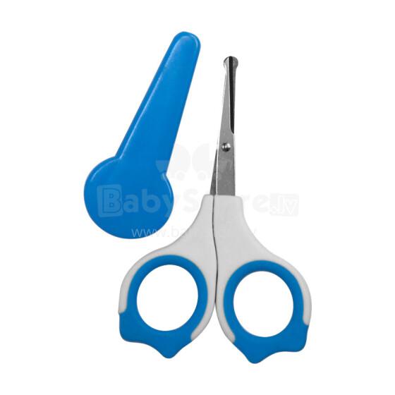 Lorelli&Bertoni Blue Art.1024021 šķērītes ar noapaļotu galu un vāciņu