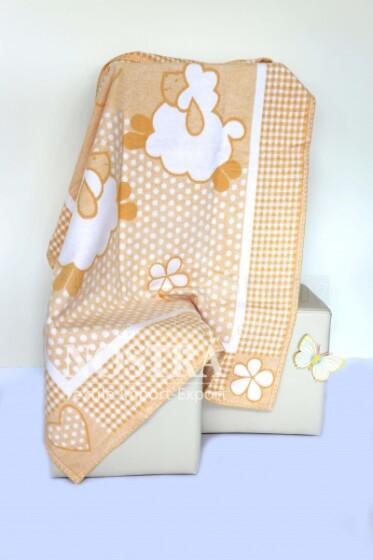 Mežroze Honey Art.80075 Augstvērtīga bērnu kokvilnas sedziņa (sega) 100x140 cm