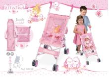 DeCuevas Toys Maria Art.90023 Pastaigu leļļu rati ar somu