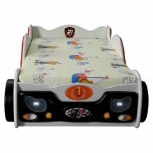 Plastiko Mini Monza Art.19074 Ergonomiska bērnu gulta - Mašīna ar matraci 160x80 cm