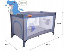 Baby Maxi M2 Basic Col. 645 Blue Bērnu manēža ceļojumu gulta