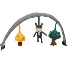 Leaf Reversible Toy Bar (Cinder/Bisque) TY01000RSV Mīksta arka ar rotaļlietām šupuļkrēsliņam