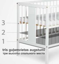 Drewex Kuba Art.7096 Natural  Bērnu kokā gultiņa 120x60cm