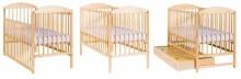 Drewex Kuba Art.7098 White  Bērnu kokā gultiņa 120x60cm