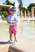 Shadez Designer Classic White Teeny Art.SHZ12 Bērnu saulesbrilles, 7-15 gadi