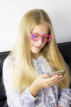 Shadez Blue Light White Teeny Art.SHZ 105 Bērnu brilles digitālajām ierīcēm 7-16 gadi