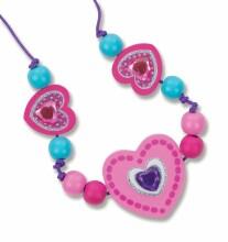 Melissa&Doug Hearts Beads Art.18828 Koka pērlītes