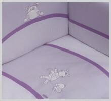 NINO-ESPANA Bernu gultas veļas kokvilnas komplekts 'Paseo Violet' 3plus