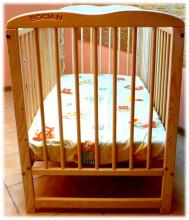 BOCIAN OLA Bērnu gultiņa Krāsa natura
