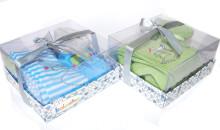 Kolorino Dewex GiftBox Bērnu stilīgas zeķubikses ar zaķītēm komplektā dāvanu kastē [56/62; 68/74cm]