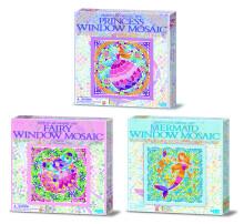 4M Window Mosaic Art.00-04565  Komplekts - logu mozaīka Feja/Nāra/Princese