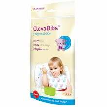 Cleva Mama Art. 7019 ClevaBibs Bērnu vienreizējas lacītes 5 gab.