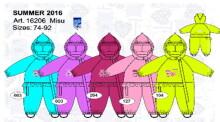 Lenne'16 Misu Art.16206/127 Детский демисезонный кобинезон для девочек (80,86)
