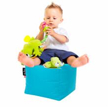 Qubo™ Cube Kid Art.85177 Sēžammaiss, Puffs, Mīkstais bean bags, pupumais
