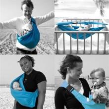 MiniMonkey Baby Sling 4-in-1 Sand Bērnu slings