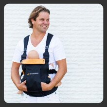 Minimonkey Dinamic Baby Carrier Black&Grey Bērnu Ķengursoma ( 0-18 kg )
