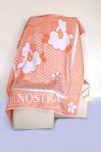 Mežroze Orange  Art.89455  Augstvērtīga bērnu kokvilnas sedziņa (sega) 100x140 cm